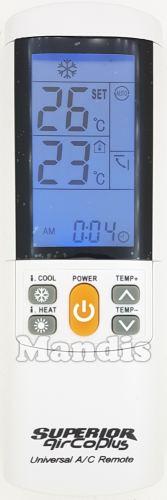 Télécommande Airco Plus universelle pour climatiseurs Huake TCL Uni-Air